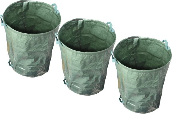 Tuinafvalzak | Set van 3 Tuinafvalzakken | Ø45 x 70 cm | 110 liter | Stijve Vorm | Bladzakken Onkruidzak
