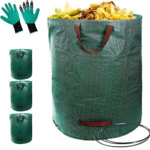 Tuinafvalzak inclusief gratis handschoenen - 3 stuks - 280 liter - 50 kg - Tuinafvalzak opvouwbaar