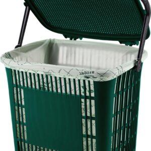 Ecodutch groen - incl. Compostbags - afvalemmertje gft - gft afvalbakje - bio afvalbakje - afvalbakje aanrecht - afvalbakje groenafval