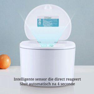 EverydayGoods sensor prullenbak 3 liter - gft afvalbakje - tafelafvalbakje - compostemmer - wc prullenbak - wit - incl batterijen