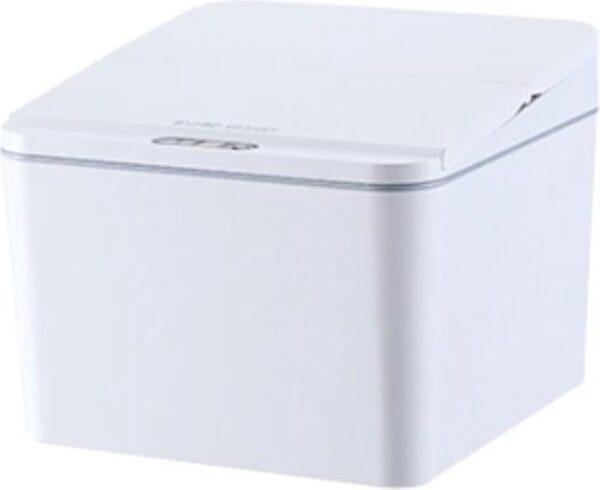 EverydayGoods sensor prullenbak 4L - gft afvalbakje - tafelafvalbakje - compostemmer - wc prullenbak - wit - incl batterijen
