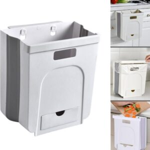 Ruimtebesparend Ophangbaar Gft Afvalscheiding Afvalbakje Aanrecht - Papiermand - Wit