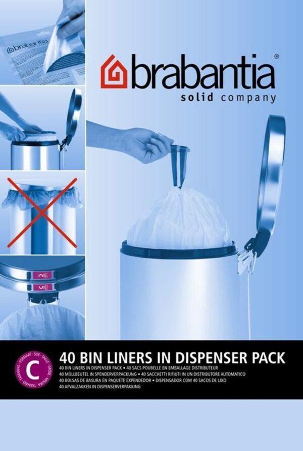 Brabantia PerfectFit Vuilniszakken - 10/12 l - Code C - 40 stuks