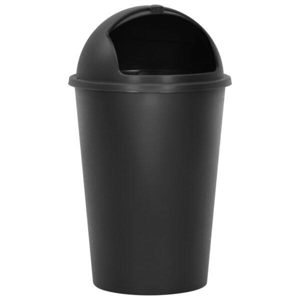 vidaXL Prullenbak enkel 50 L zwart